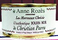 Boudin de porc Anne Rozés