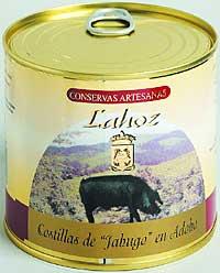 Costillas de jabugo en adobo Lahoz
