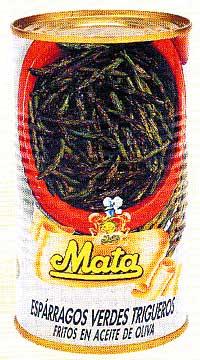 Espárragos verdes fritos Mata