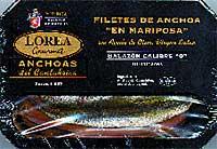 Anchoas Mariposa en oliva virgen extra Lorea Gourmet