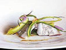 Ensalada de kokotas de merluza y espárragos